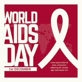 World aids day event text