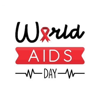 World aids day greeting card concept