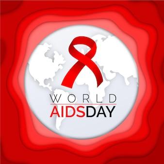 紙のスタイルで世界エイズデー