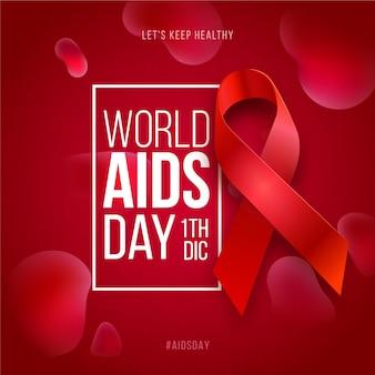 현실적인 스타일의 세계 에이즈의 날