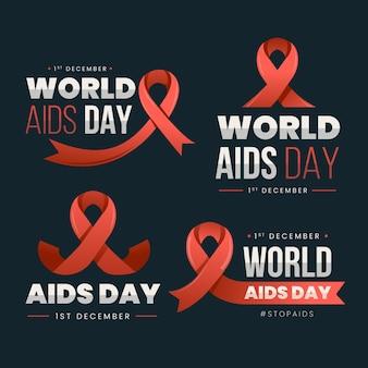 世界エイズデーのラベルコレクション