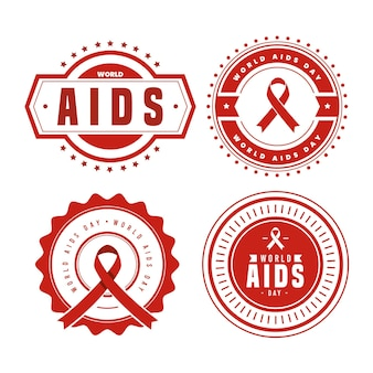 World aids day labels concept