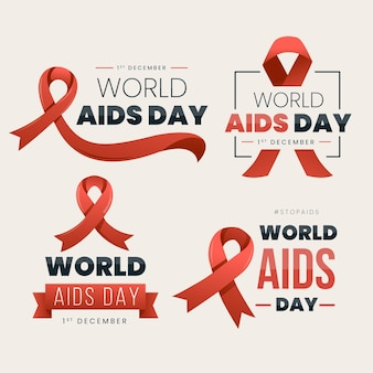 World aids day labels pack