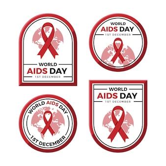 세계 에이즈의 날 라벨 세트