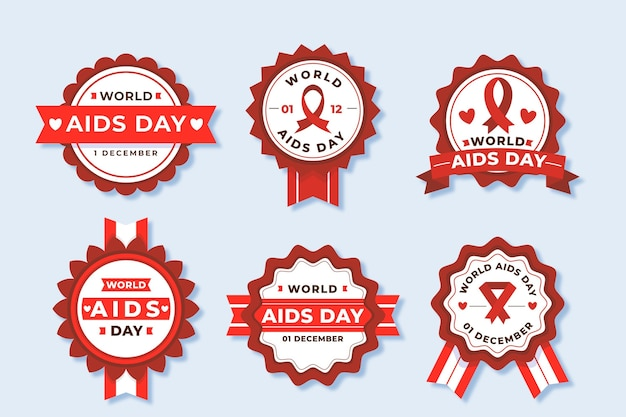 World aids day labels