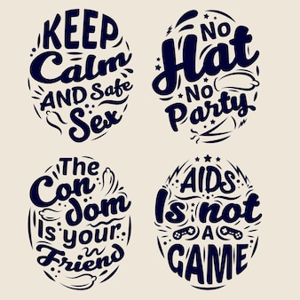 World aids day lettering quotes