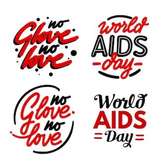 世界エイズデーのレタリングの引用
