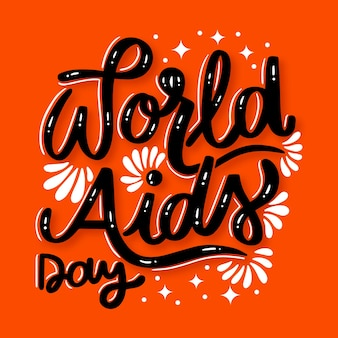 World aids day lettering