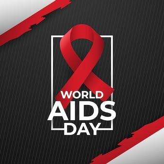 暗い背景の世界エイズデー