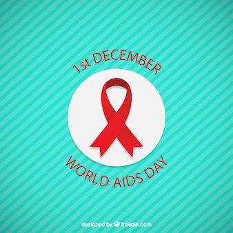 World aids day ribbon badge