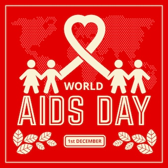 World aids day text and illustration