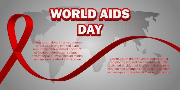세계 지도 배경으로 세계 에이즈의 날
