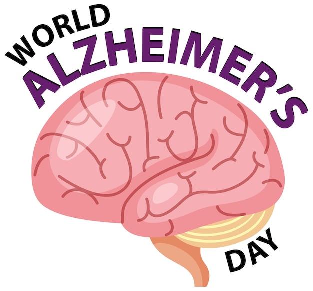 Логотип всемирного дня болезни альцгеймера
