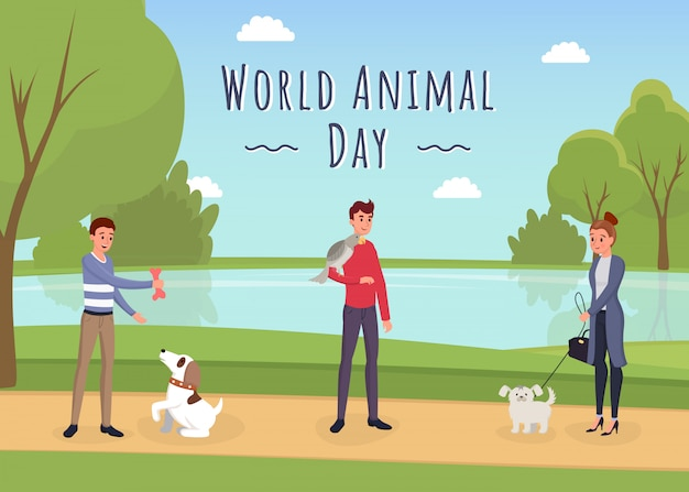 World animal day banner template