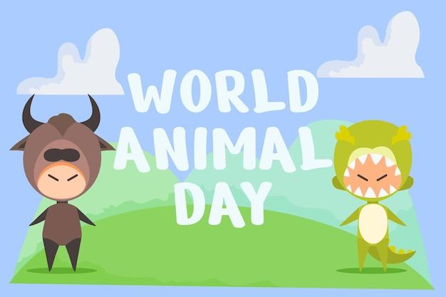 다목적에 적합한 세계 동물의 날 배너 벡터
