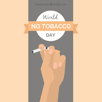 World anti-smoking day background