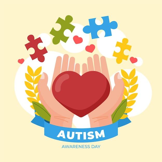 World autism awareness day illustration
