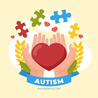 World autism awareness day illustration