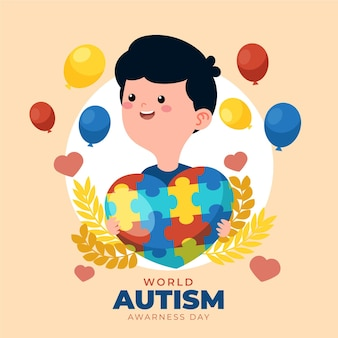 세계 자폐증 인식의 날 그림