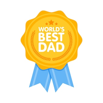 World best dad badge award