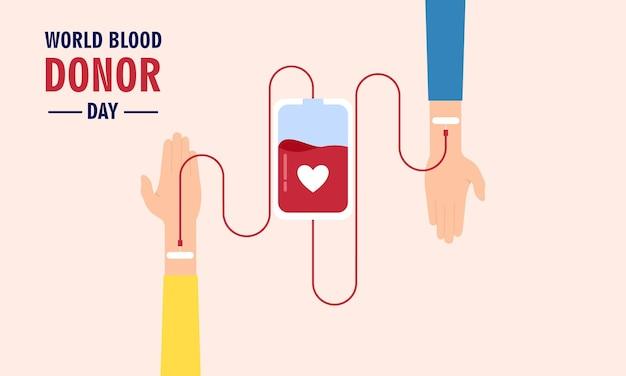 Иллюстрация всемирного дня донора крови иллюстрация людей донора крови
