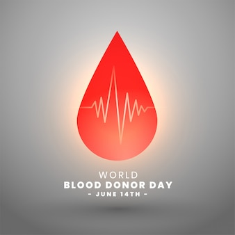 World blood donor day june 14th background design