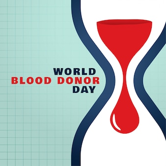 World blood donor day save blood concept background