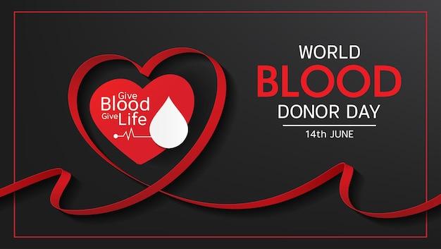 世界献血者デーのベクトルイラストデザイン