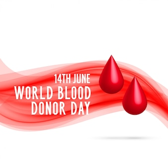 World blood donor day with blood drop