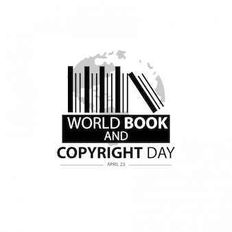 World book and copyright day concept