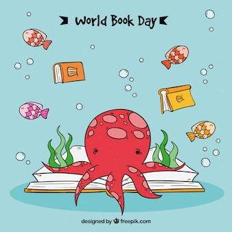 Мировой справочный день с осьминогом