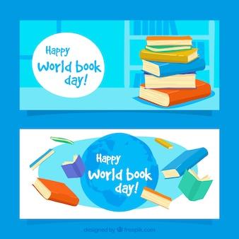 色付きの本で世界帳日バナー