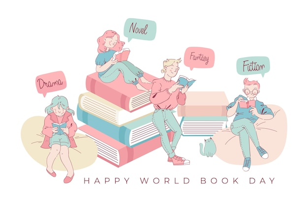 World book day family reading