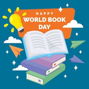 Giornata mondiale del libro in design piatto