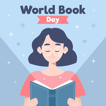 World book day flat design