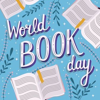 World book day, hand lettering