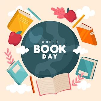 책과 행성 세계 책의 날 그림