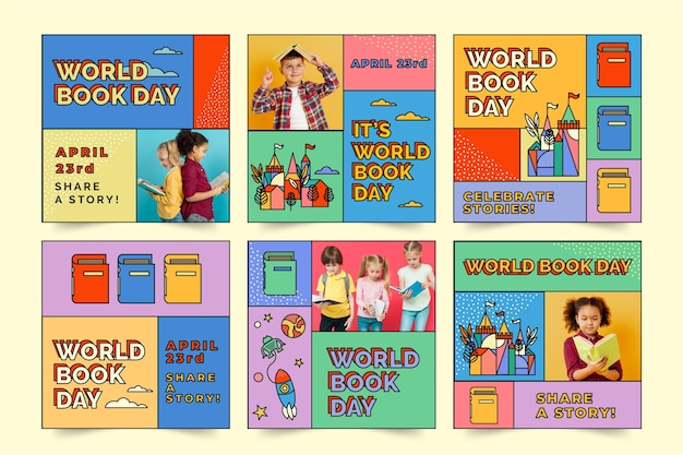 World book day instagram posts collection