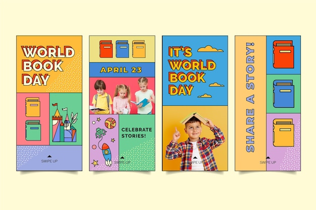 World book day instagram stories collection