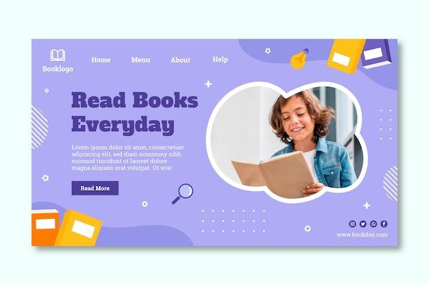 Шаблон целевой страницы всемирного дня книги