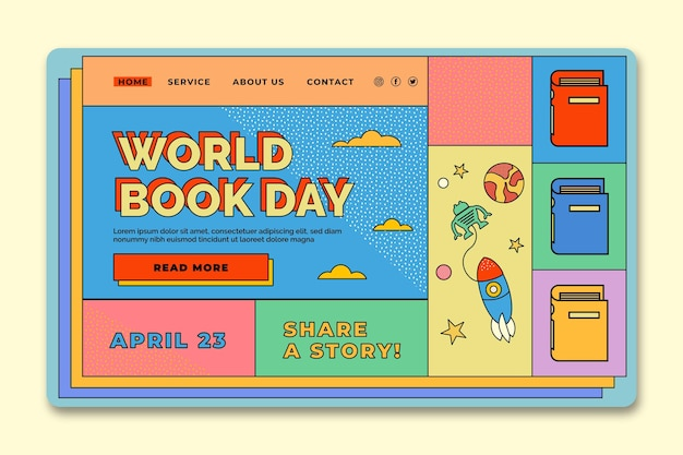 세계 도서의 날 방문 페이지 템플릿