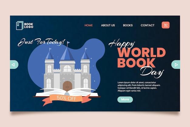 Modello di pagina di destinazione della giornata mondiale del libro Vettore gratuito