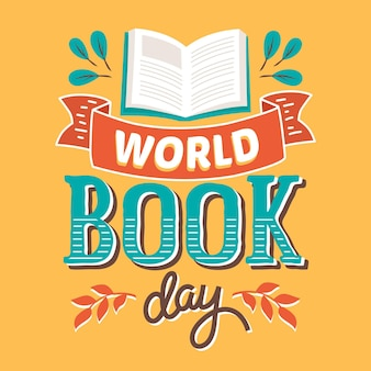 世界図書の日のレタリング