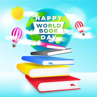 World book day with greeting