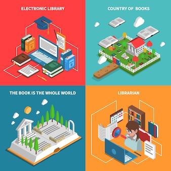 World of books icons set