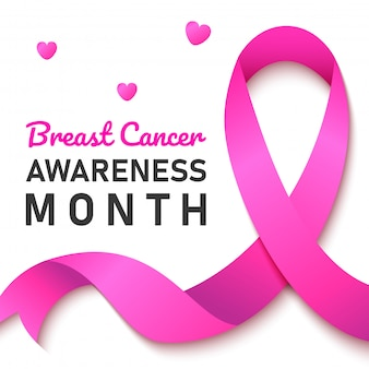 World breast cancer banner. web banner. breast cancer awareness pink ribbon.