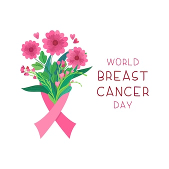 World breast cancer day card
