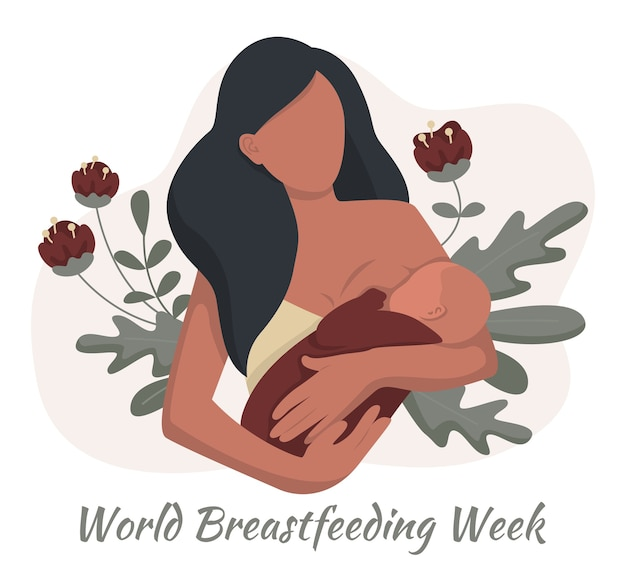 World breastfeeding week illustration