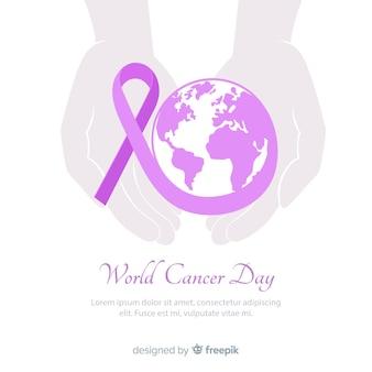 World cancer day background
