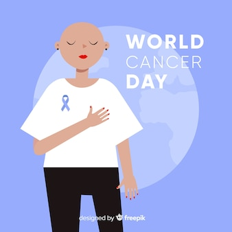 World cancer day background